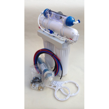 4 Stage Reverse Osmosis System with refillable DI & Backwash