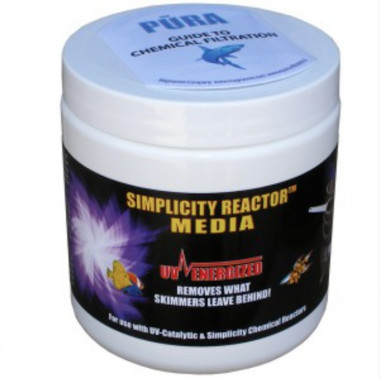 Simplicity Reactor Media removes phosphates, silicates, organics, and byproducts of filtration.