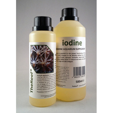 Iodine is a concentrated liquid iodine supplement for marine aquaria
