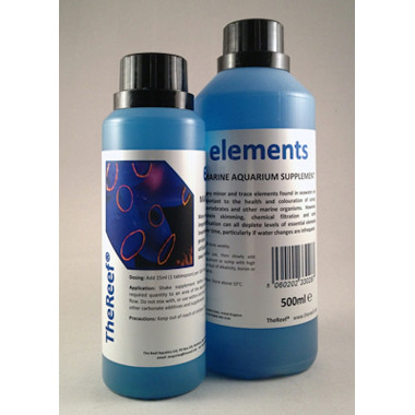 Elements is a blend of minor and trace elements for marine aquaria