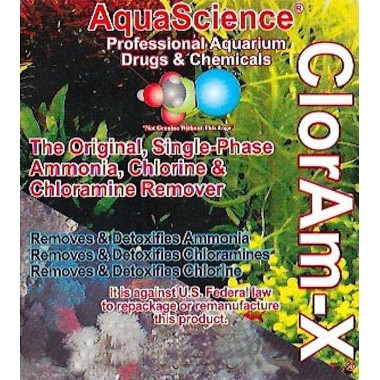 ClorAm-X ammonia, chlorine neutraliser for marine & Fresh water aquariums
