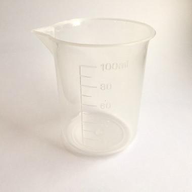 1x 100ml Plastic laboratory beaker