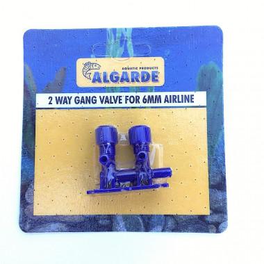 Algarde 2 way Gang Valve for Aquarium Airline