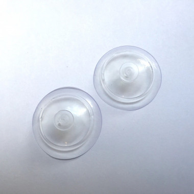 1x Replacement set of 2x silicone suction cups for Ziss BL-1 / 2 / 3 / GL-1 fish breeding box