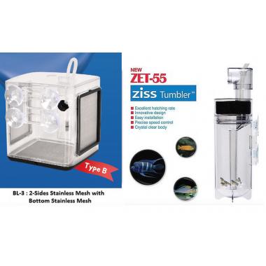 ZET-55 Fish Egg Tumbler+ BL-3B Ziss EZ 2.4L Breeding Box Fry Trap Pleco Cichlid