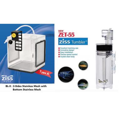 ZET-55 Fish Egg Tumbler+ BL-3A Ziss EZ 2.4L Breeding Box Fry Trap Pleco Cichlid