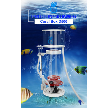 Coral Box D500 DC Protein Skimmer with Jebao DCS Pump for systems up to 650 L
