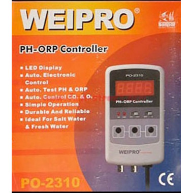 PH / ORP Meter and controller Weipro PH2310. Ideal for Calcium reactor. UK plug and UK guarantee.