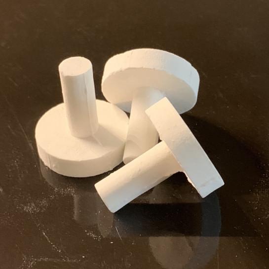 4x Ceramic Frag Discs for Aquarium use.