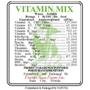 MULTI-VITAMIN SUPPLEMENT Marine Fish Vitamin Supplement Fish & Reef Aquaria