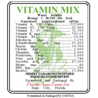 Multi Vitamin Supplement Fortifying Vitamins for frozen dry fish food 100ml