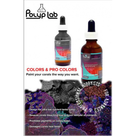 Polyp Lab Pro Colors 50ml Marine Coral Growth Additive 200x concentration