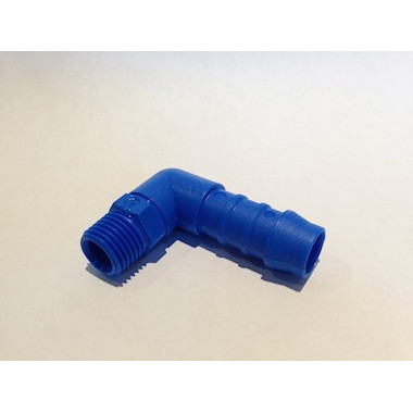 90° Nylon Elbow Hose Tail 1/4 BSP-12mm