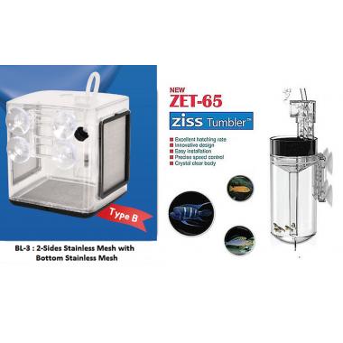 ZET-65 Fish Egg Tumbler+ BL-3B Ziss EZ 2.4L Breeding Box Fry Trap Pleco Cichlid