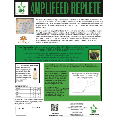 Amplifeed™ Replete complete Rotifer and Artemia Feed
