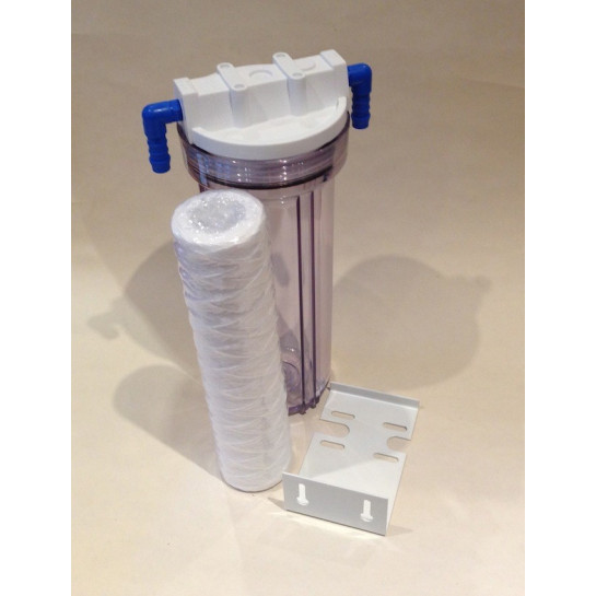"In-line aquarium water filter with 1/4"" ports with 12mm hose tail."