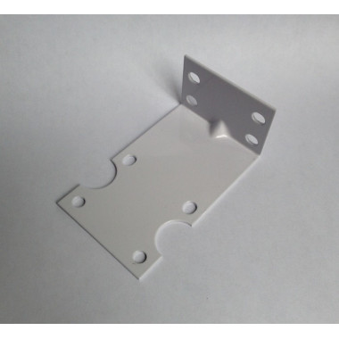 Single chamber bracket including 4x fixing screws